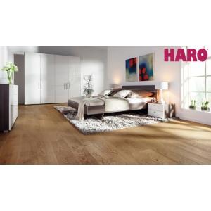 Паркетная доска Haro Parquet 4000 однополосная 527337 Дуб черно коричневый Маркант брашированный в Красноярске