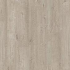 Виниловый влагостойкий ламинат (замковая плитка ПВХ) Quick-Step Pulse Click PUCL40105 Дуб хлопковый светло-серый
